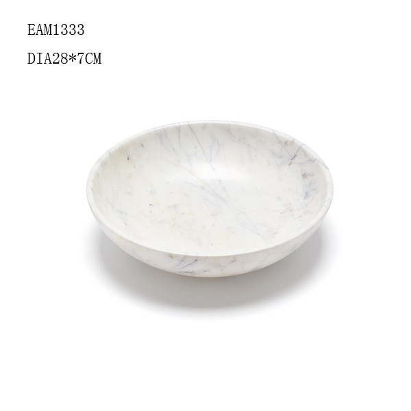 fruit bowl white marbled concrete bowl