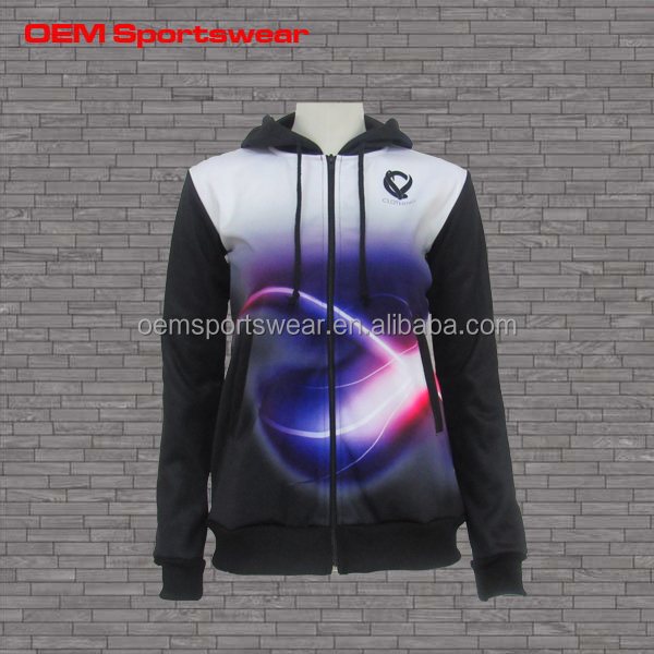 All over printed fleece hoodie with different color
