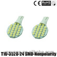 2015 hotsale T10 1210 24SMD License Plate Lights T10 Led Bulb