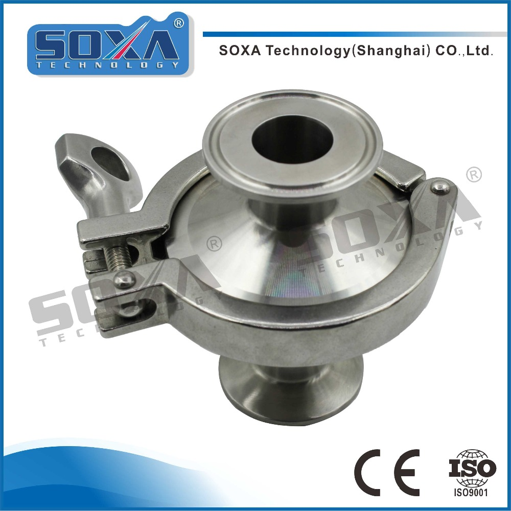 Sanitary quick-install check valve stainless steel 316