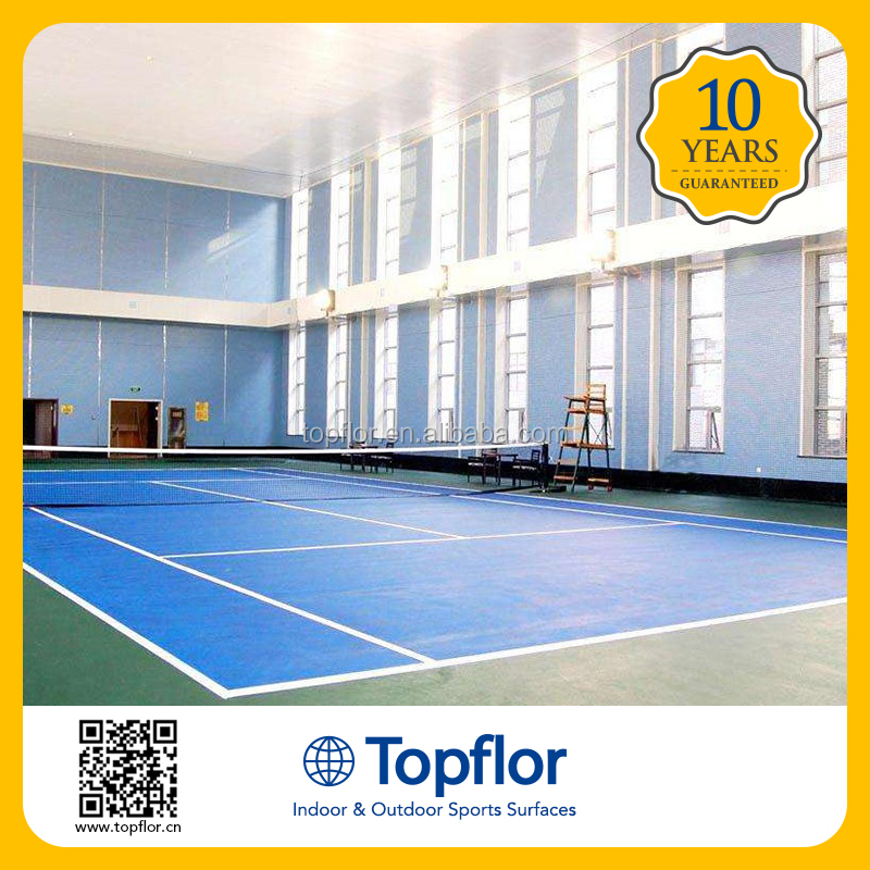 Anti-slip indoor tennis pvc court sports floor covering