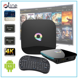 2GB DDR3 RAM 16GB EMMC ROM Q BOX Android tv box andriod tv box and i8 Wireless Keyboard