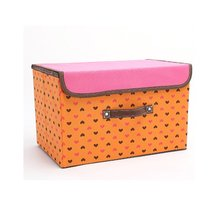 Household Non-woven Foldable Storage Box with Lidded Storage Bins Non-woven Foldable Toys Box