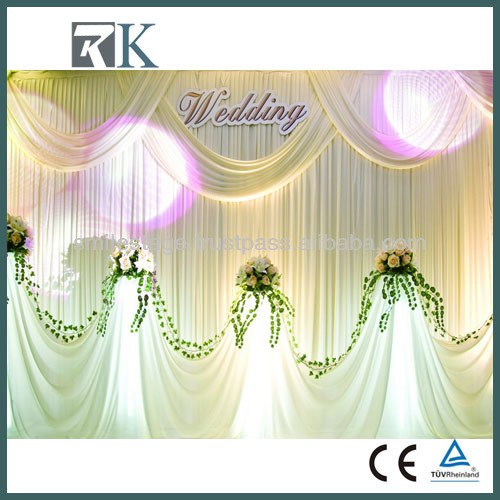 Portable Decoration Aluminum Pipe And Drape With Backdrops