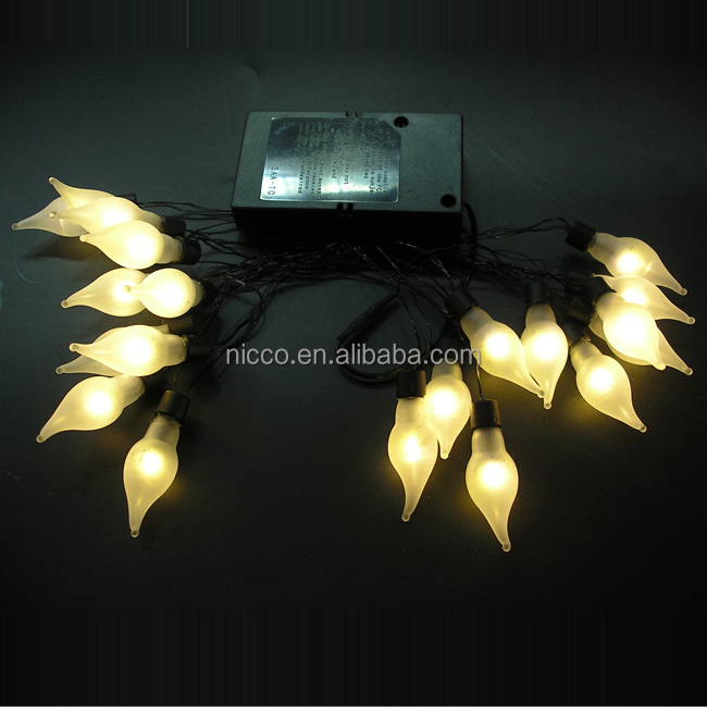 new design battery operated frosted glass bulbs led mini string light chain