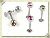 Dice lip piercing jewelry mens labret gay piercing body jewelry non piercing body jewelry (HDL-001)