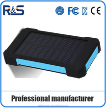 2016 Factory price Hot selling slim mobile solar power bank charger cell 8000 mah waterproof