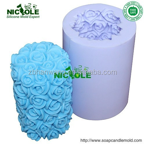 LZ0088 Nicole 3D Silicone Candle Mold