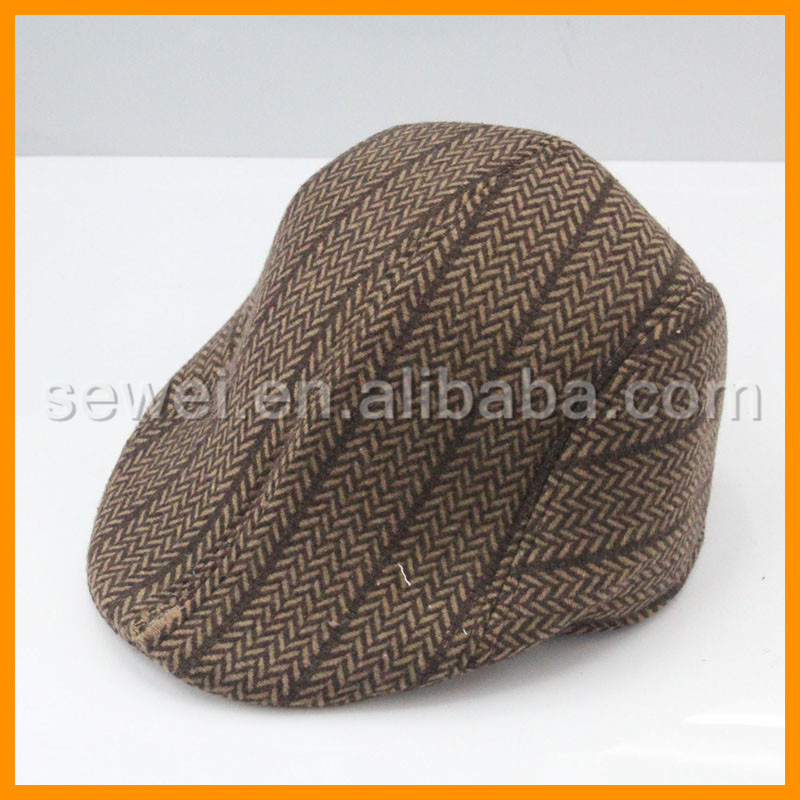 Classic Customized Check Flat Peaked Cap For Women Men