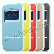 Leather Flip TOTU Design Case for iPhone 5, Window Cover Case for iPhone 5 5S with Smart Sliding Function