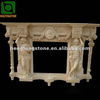 Marble Gas Fireplace Surround With Figure