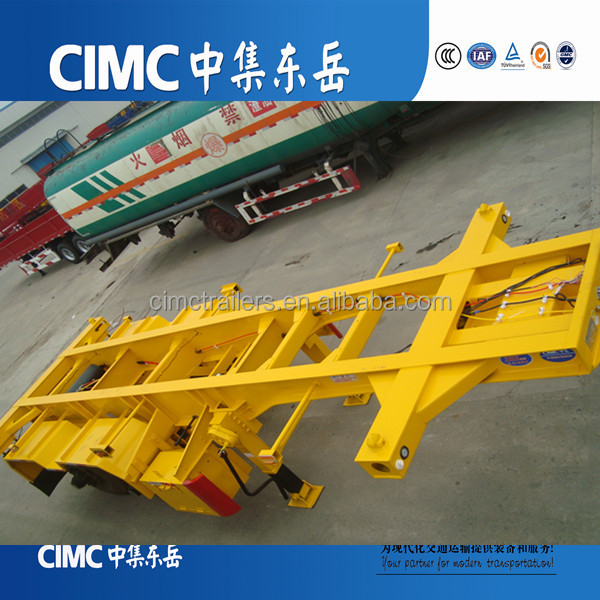 CIMC Container Chasis /Skeleton Semi Trailer Transporting 20ft 40ft Container for Sale