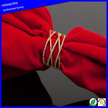New Design Gold Plated Fashion Copper CZ Stone Ring For Girls