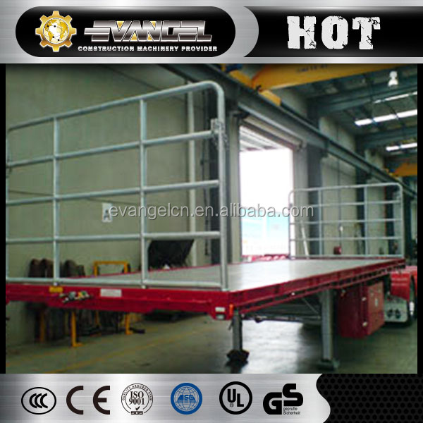 3 axles 40 tons flatbed side wall bulk cargo trailer insulated cargo trailer