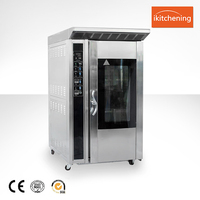 Gas Electric Baking Bread Oven/ Gas Rotary Convection Oven 12 Trays/industrial bread baking oven