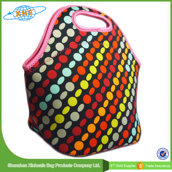 Protable Children Neoprene Lunch Bag Kids Thermal Cooler Bag Lunch