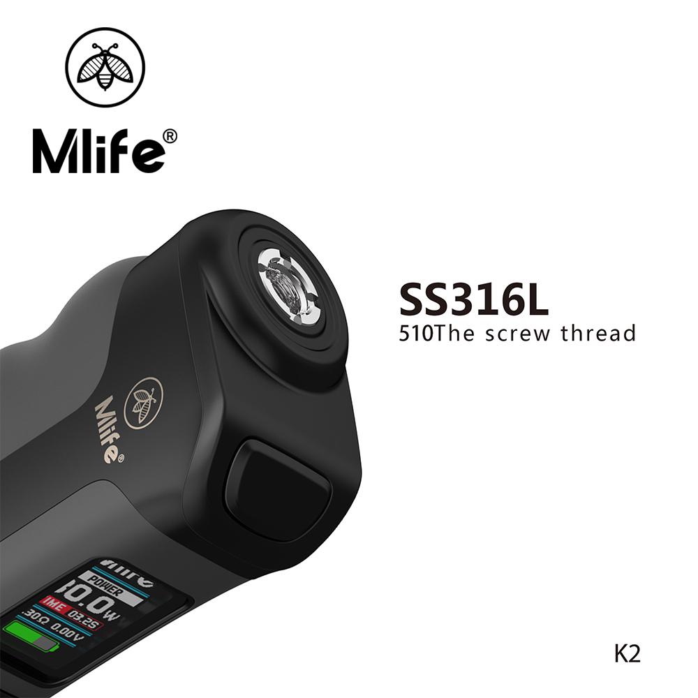Mlife 80 W K2 mini e cigarro mod com tela OLED de 0.96 polegada TFT