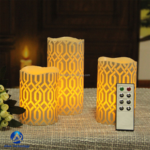 battery operated flameless wax LED candle with remote control/LED candle light