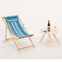 Yoler High Quality Cheap Price Wholesale Custom Telescope chair Casual Wooden Deck Lounger Personalized Folding Beach Chair