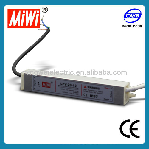 LPV-20-12 Industrial Waterproof LED Power Supply 20W 12vdc led driver