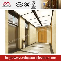 Office building large construction elevator passenger elevator cabin lift 6 person