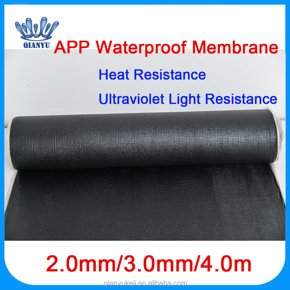 China Factory Hotsell 3mm 4mm APP Waterproof Asphalt Bitumen Waterproof Membrane