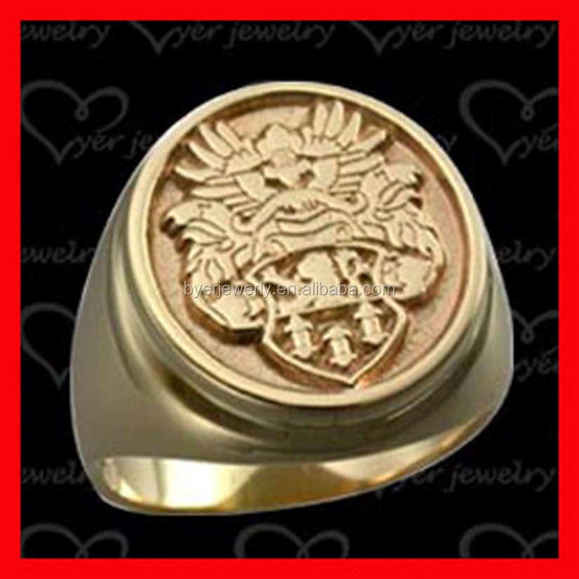 chinese dragon signet ring with gold plating