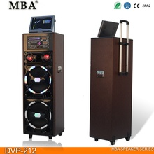 "Dual 12 inch LCD screen & MP5 & CD/DVD player speaker 12"" Portable trolley Hot Sale Speaker With Karaoke Function"