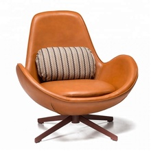 Upholstered Leather Armchair For Leisure <strong>Furniture</strong>