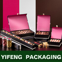 Any color Custom Decorative Cardboard Candy Packaging any color Paper Chocolate Boxes Wholesale