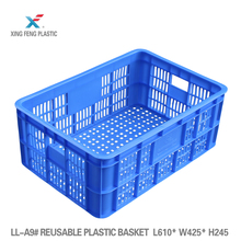 Plastic mesh shipping Daily turnover plastic handy baskets 610*420*245mm