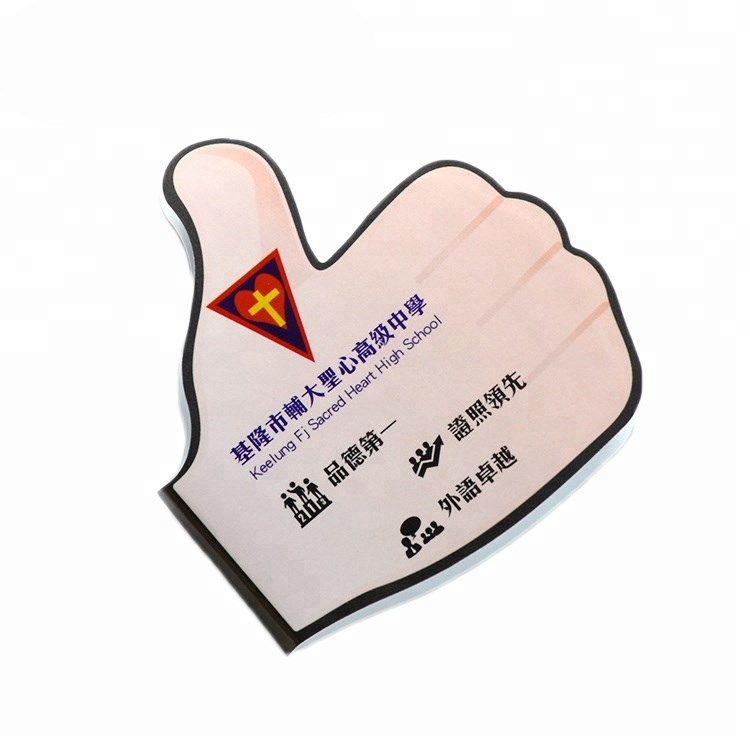 Wholesale oem logo hand/leaf shape die cut 120 sheets pads sticky notes