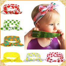 Baby Summer Style Cartoon Fruit Rabbit Ear Headband Ribbon Turban Wrap Girls Hair Band