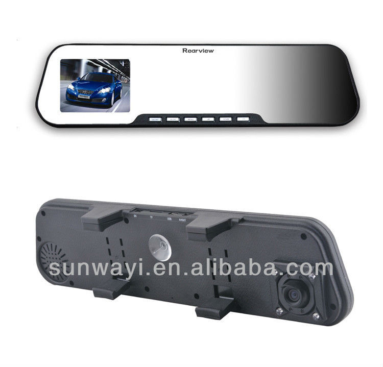 2.7inch Bluetooth Mirror car DVR hd video camera with night vision