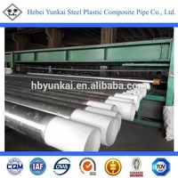 PE lined galvanized carbon steel water well pipe