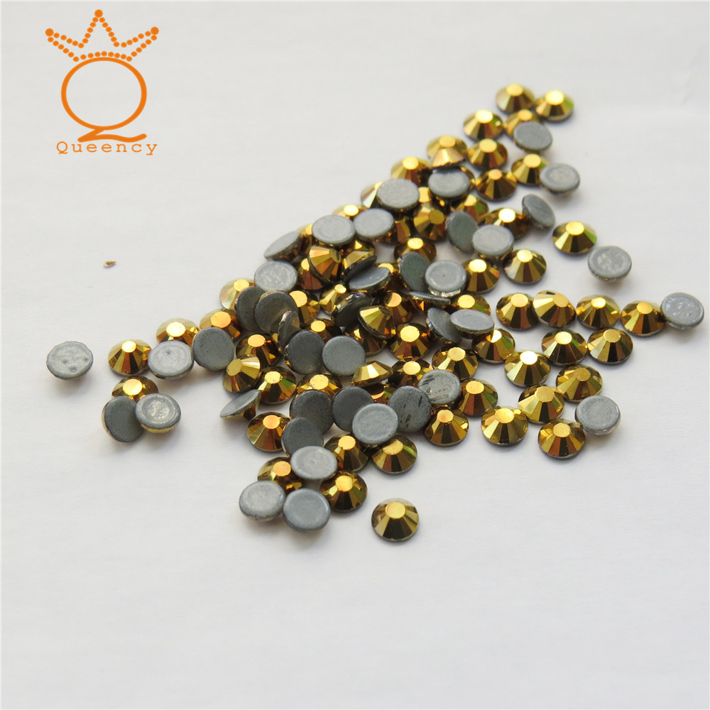 Fashion design foil back hot sale bule opal flat back non hot fix stone for nail art