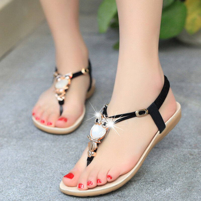 2016 Fashionable Lady Sandal Shoe Beautiful <strong>Flat</strong> Woman Sandal
