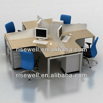 4 people cheap office desk