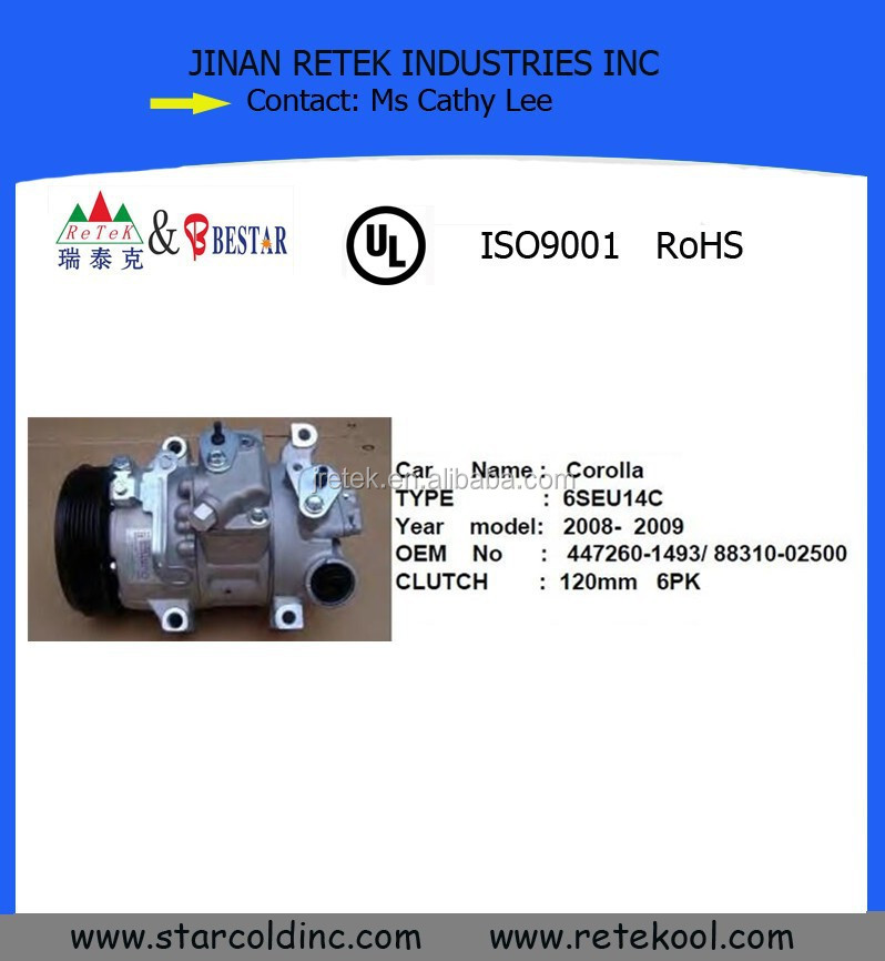 6SEU14C Car Compressor for Toyota Corolla
