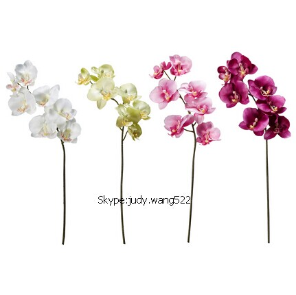 2014 SJ AF036 Wholesale 70cm high quality fabric artificial orchids for weddig decoration single artificial orchids flower