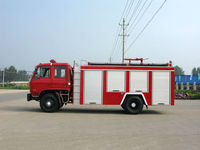 DONGFENG BRAND 4*2 ,180 hp,EURO 3,telescopic ladder fire truck