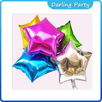 customized aluminum foil hydrogen balloon with star