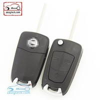 Best price car key Opel Vectra key case 3 buttons HU100 blade for Opel