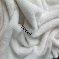 100% polyester knitted long pile wholesale faux fur fabric for toys blanket garment