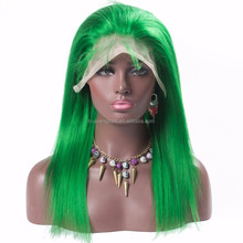 Wholesale Top Quality Brazilian Mink Hair 13x4 Lace Front Wig Green Color Brazilian Human Hair Wig