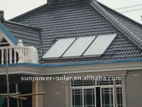flat plate solar panel project system (CE/SOLAR KERMARK/SRCC/SABS certification) factory