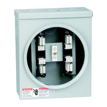 ISO 9001 Factory 200A 4Jaws/4J Aluminum Round Sing Phase Rectangle/Square Meter Socket/Meter Box with Hub