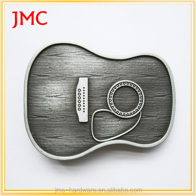 high quality custom metal music design guitar belt buckle for sale
