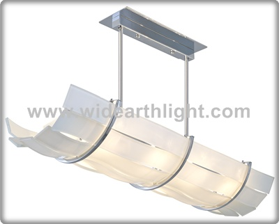 UL CUL Listed Hotel Designer Pendant Lighting In Chrome With Silk Screened White Glass C60533