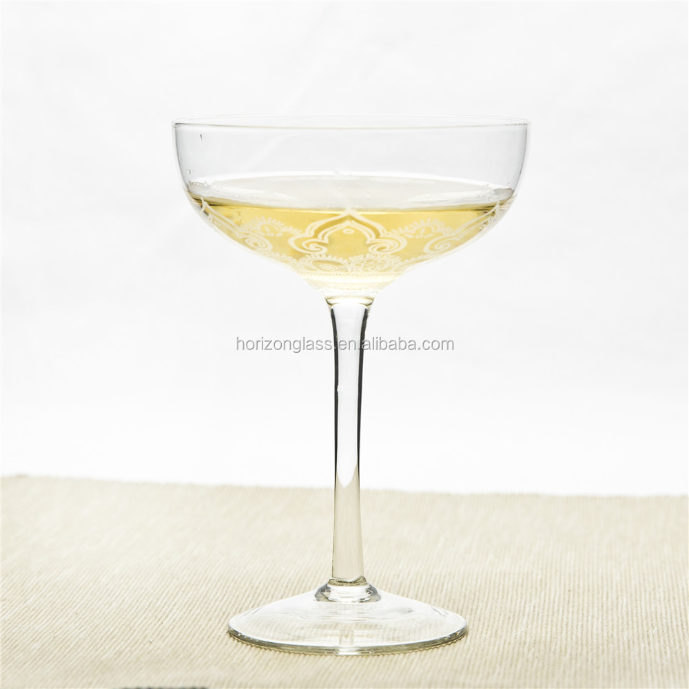 Floral vinyl decal coupe champagne glasses decorative party champagne coupe